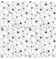 black and white stars network seamless pattern vector image