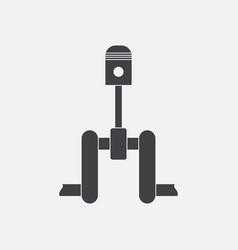 Black icon on white background piston scheme vector