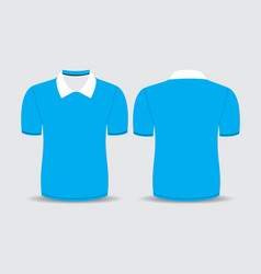 Blue polo t shirt vector