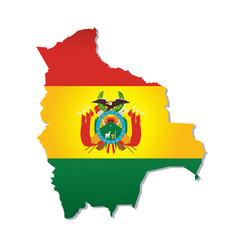Bolivia flag amp map vector