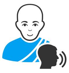 Buddhist confession flat icon vector