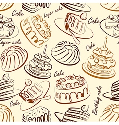 Cakes seamless3 vector