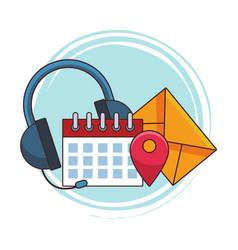 call center service vector image