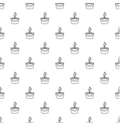 candle pattern seamless vector image