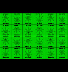 cannabis cannabis leaf vector image