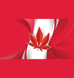 cannabis legalization in canada concept with a vector image