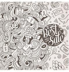 Cartoon cute doodles sale frame vector
