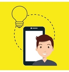 Cellphone man tools apps vector