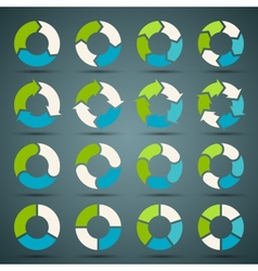 Circle arrows set for your info graphic vector