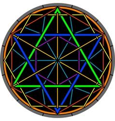 Color magic hexagram vector