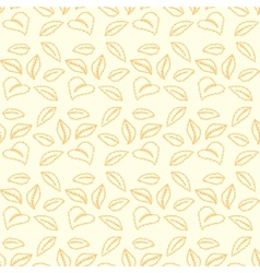 Colorful autumn leaves seamless pattern Background vector image