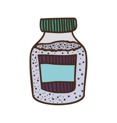colorful bottle with salt and pepper vector image