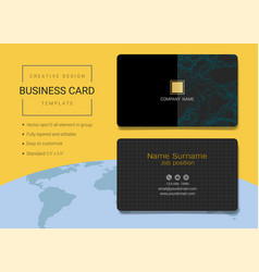 Creative business card or name card template vector