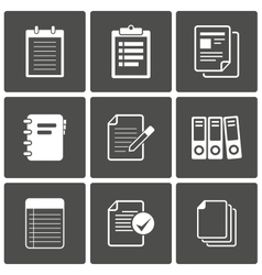 Documents Icons Notepad paper vector