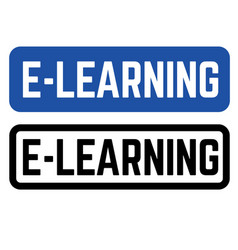 e learning stamp on white vector image