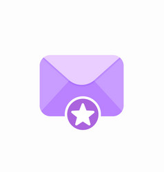 Email favourite mail star icon vector