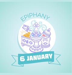 Epiphany january 6 vector