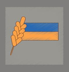 flat shading style icon ukrainian flag vector image