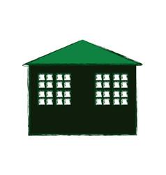 Green building house vector