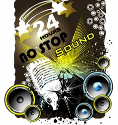 Grunge music back ground vector