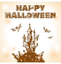 halloween doodle vector image vector image