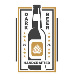 handcrafted beer retro isolated sign vector image