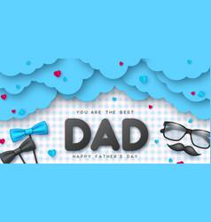 Happy fathers day typographic design vector