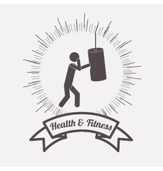 health and fitness design vector image