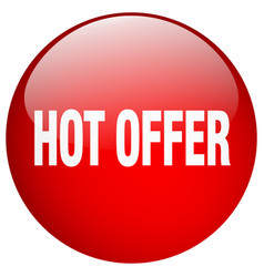 Hot offer red round gel isolated push button vector