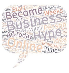 Hype In Online Business text background wordcloud vector