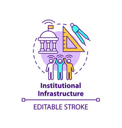 Institutional infrastructure concept icon vector
