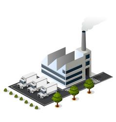 Isometric 3d city urban factory vector