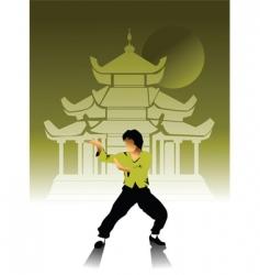 kung-Fu vector image