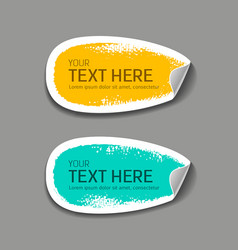 Label paper brush stroke collections vector