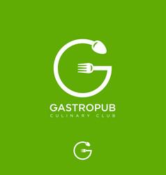 logo gastropub g monogram vector image