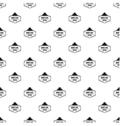 man hat pattern seamless vector image