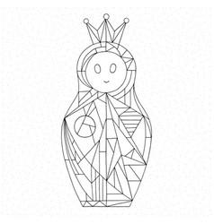 matryoshka coloring page nesting doll hand drawn vector image