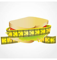 Measuring tape around Sandwich vector
