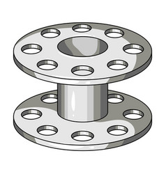metal reel for threadssewing or tailoring tools vector image