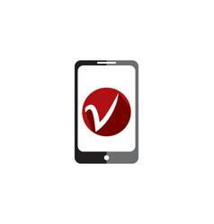 mobile fix logo vector image