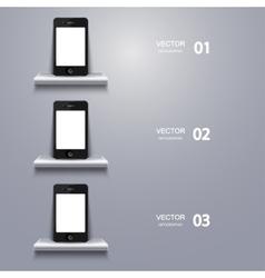 modern smartphone infographic vector image