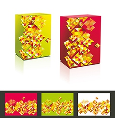 Music cd cover box design template vector