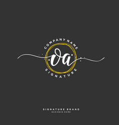 O a initial letter handwriting and signature logo vector