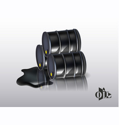 oil barrels on a white background vector image