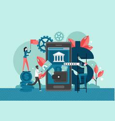 online bank flat style design vector image