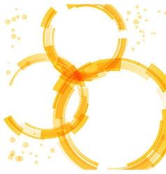 Orange bright circle design elements vector