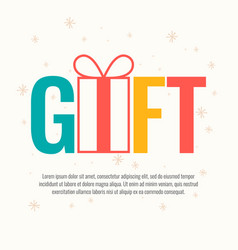 original concept poster gift and discount sale vector image