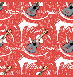 Pattern seamless guitar-02 vector