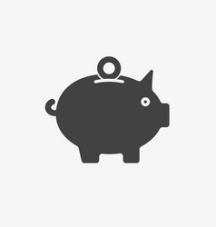 piggy bank icon business icon glyph solid style vector image