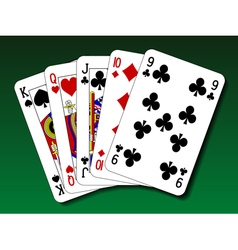 Poker hand - Straight vector